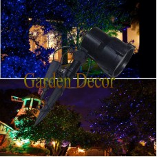 Green & blue moving firefly garden laser