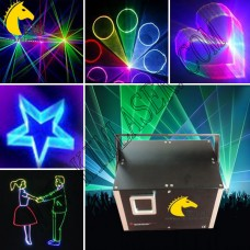 1.2w RGB laser light with 2D/3D/SD change laser lighting