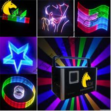 2W ILDA 2D/3D/SD card laser RGB light