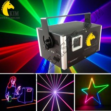 3W TTL RGB laser with SD card 40kpps scanner