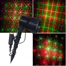 Red &green moving Eight flower  garden laser projector