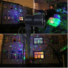 RGB laser garden meteor shower Christmas moving outdoor landscape lawn holiday stars motion projector light