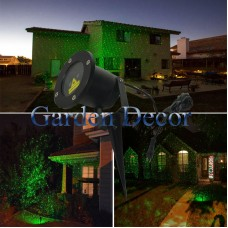 Static Single Green Garden Laser Projector with RF remote