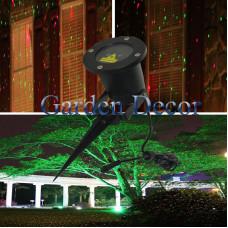 Red&Green Static Garden Laser Christmas Light
