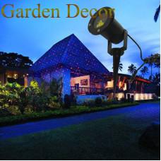 outdoor garden laser light Red&Blue stars static shower projector