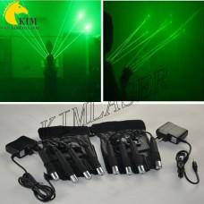 Green laser gloves